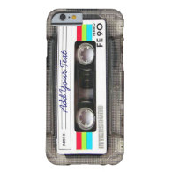 Funny Vintage 80s Retro Music Cassette Tape iPhone 6 Case