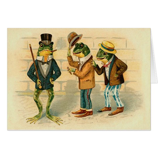 Funny Vintage Frogs Card Zazzle Com