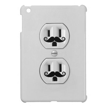 Funny Wall Outlet with mustache iPad Mini Cover