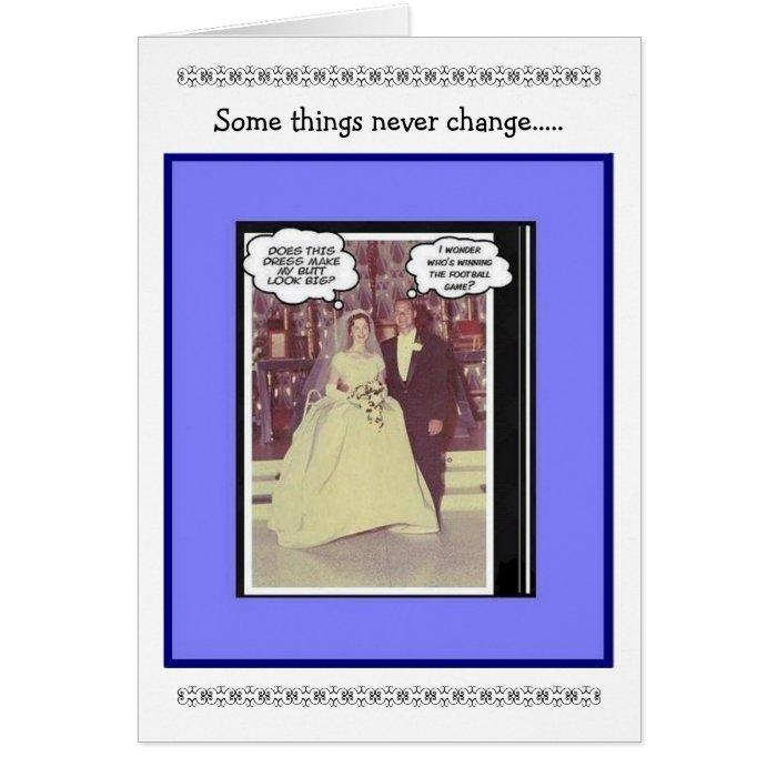 Funny Wedding Anniversary  Vintage Card  Zazzle