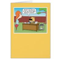Funny Yard Business Dog Birthday Card