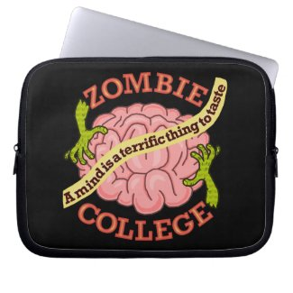 Zombie Humor Pun Brain Laptop Bag