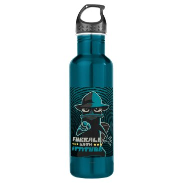 Furball With Attitude Stainless Steel Water Bottle