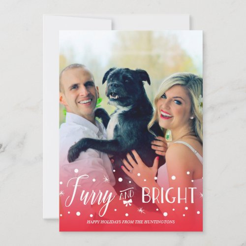 Furry & Bright - Pet Christmas Photo Holiday Card