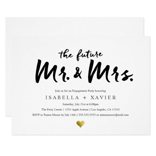Future Mr. &amp&#x3B; Mrs. | Engagement Party Invite