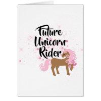 Future Unicorn Rider Birthday Card