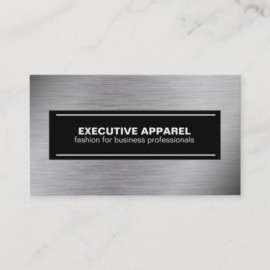 Futuristic Grey and Black on Steel Business Card