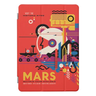 Futuristic Mars Space Travel Illustration iPad Pro Cover