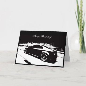 G35 Coupe Car themed Birthday Card