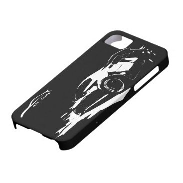 G35 Coupe Rolling shot w/ White Silhouette Logo iPhone SE/5/5s Case
