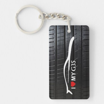 G35 Coupe with tire tread - I love my G35 Keychain