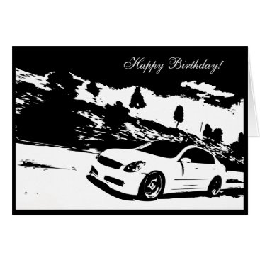G35 Sedan Car themed Birthday Card