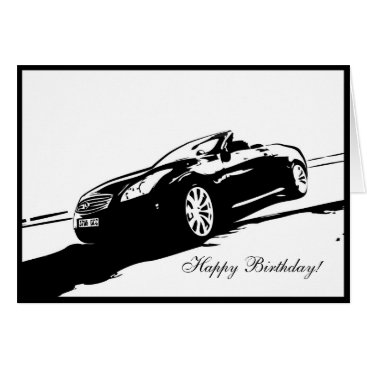 G37 Convertible Car themed Birthday Card