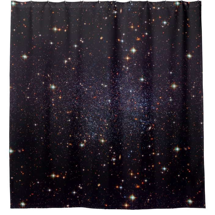 galaxy stars space shower curtain zazzle com