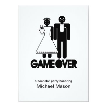 Game Over - Last day as a free man Bachleor Party Card