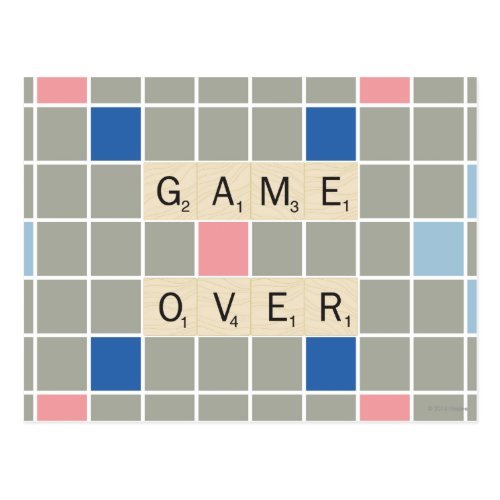 Game Over Postcard