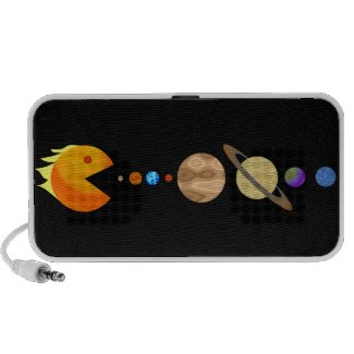 Game with planets funny Custom Doodle Travelling Speaker