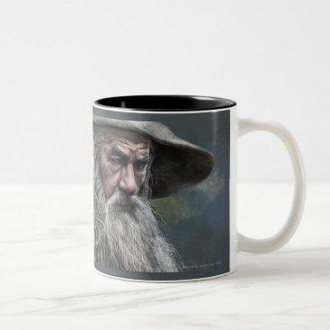 Gandalf Illustration Two-Tone Coffee Mug