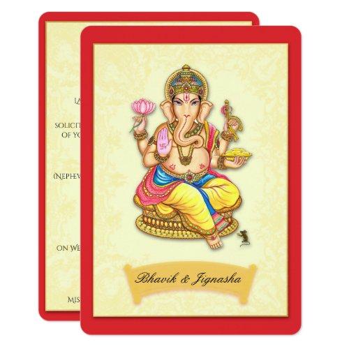 Ganesha Indian Wedding Invitation
