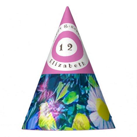 Garden of Love Wild Flowers Party Hat