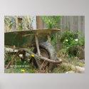 Garden Wheelbarrow Poster