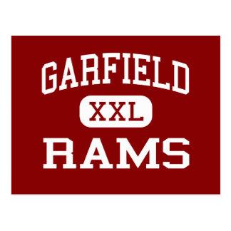 Garfield Rams High School Akron Ohio Postcard