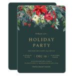 Garland Holiday Wreath Party Invitation