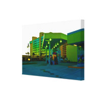 Gas Food and Beach Lodging Stretched Canvas Prints