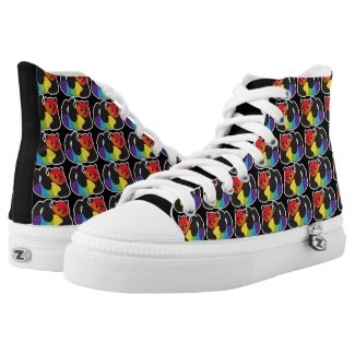 Gay Panda LGBT Rainbow Pride Printed Shoes