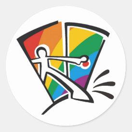 Gay Pride Classic Round Sticker