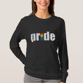 Gay Pride Dark Ladies Long Sleeve T-Shirt