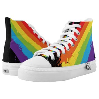 Gay Unicorn Rainbow Splat LGBT Pride Printed Shoes