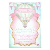 GC Hot Air Balloon First Birthday Card