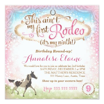 GC This Ain't My First Rodeo 9th Birthday Card