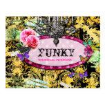 ❤️ GC | Whimsical Vintage Pink Bee Postcard