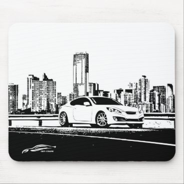 Gen Coupe with City Scape backdrop Mouse Pad