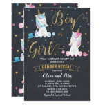 Gender Reveal Unicorn Boy or Girl Gender Reveal Invitation