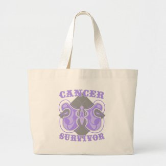 General Cancer Survivor Butterfly bag