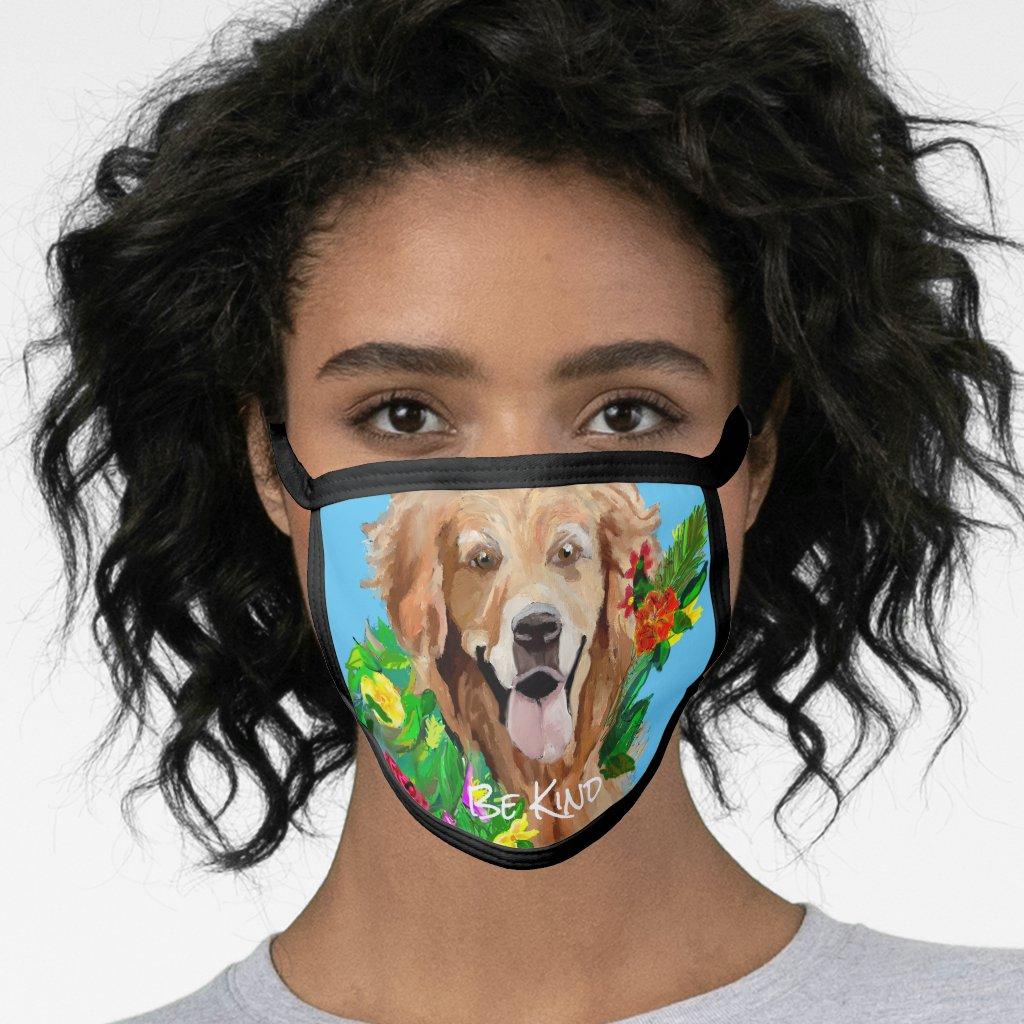 Gentle Golden Retriever All-Over Print Face Mask