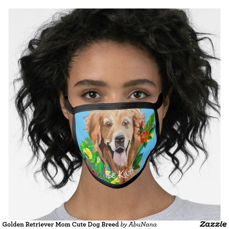 Gentle Golden Retriever All-Over Print Face Mask
