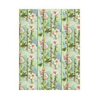 Gentle Mallow pattern wrappedcanvas