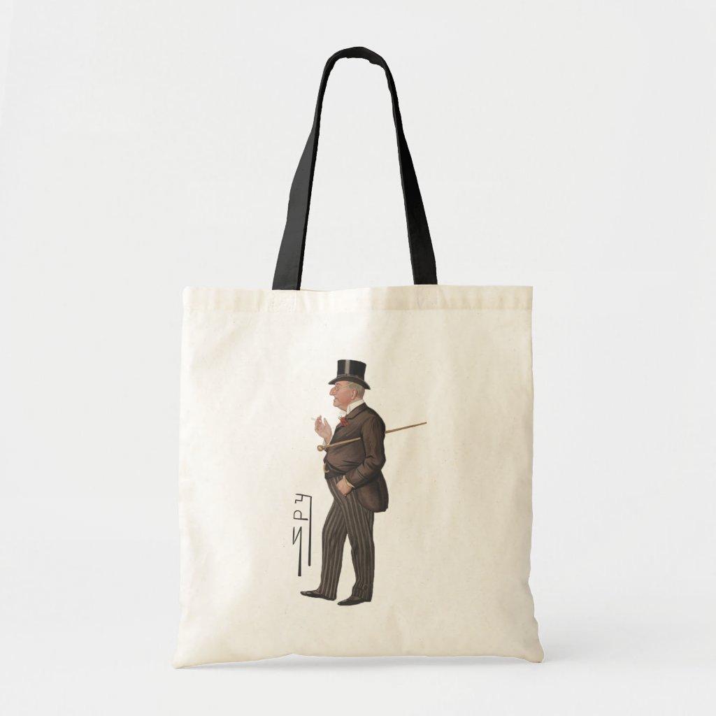 Gentleman Lawyer Spy Print Canvas Tote Bag