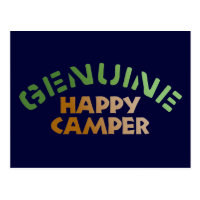 Genuine Happy Camper Postcard