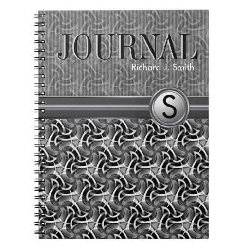 Geometry Hexagon Pattern Black White Journal