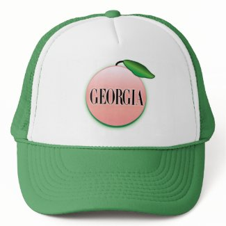 Georgia Peach Airbrush Mesh Hats