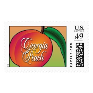 Georgia Peach Airbrush Postage