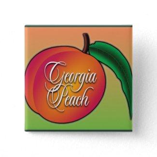 Georgia Peach Pinback Buttons