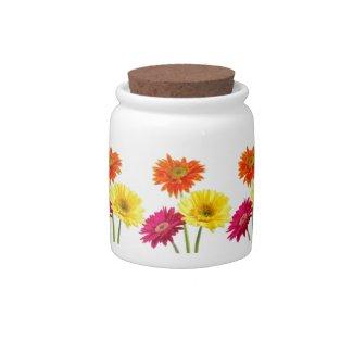 Gerbera Daisy Candy Jars