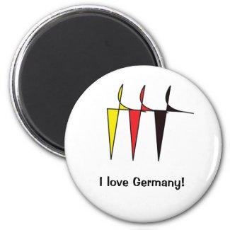 German flag colours Magnet magnet