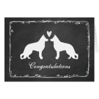 German Shepherd Dogs Wedding Congratulations Card